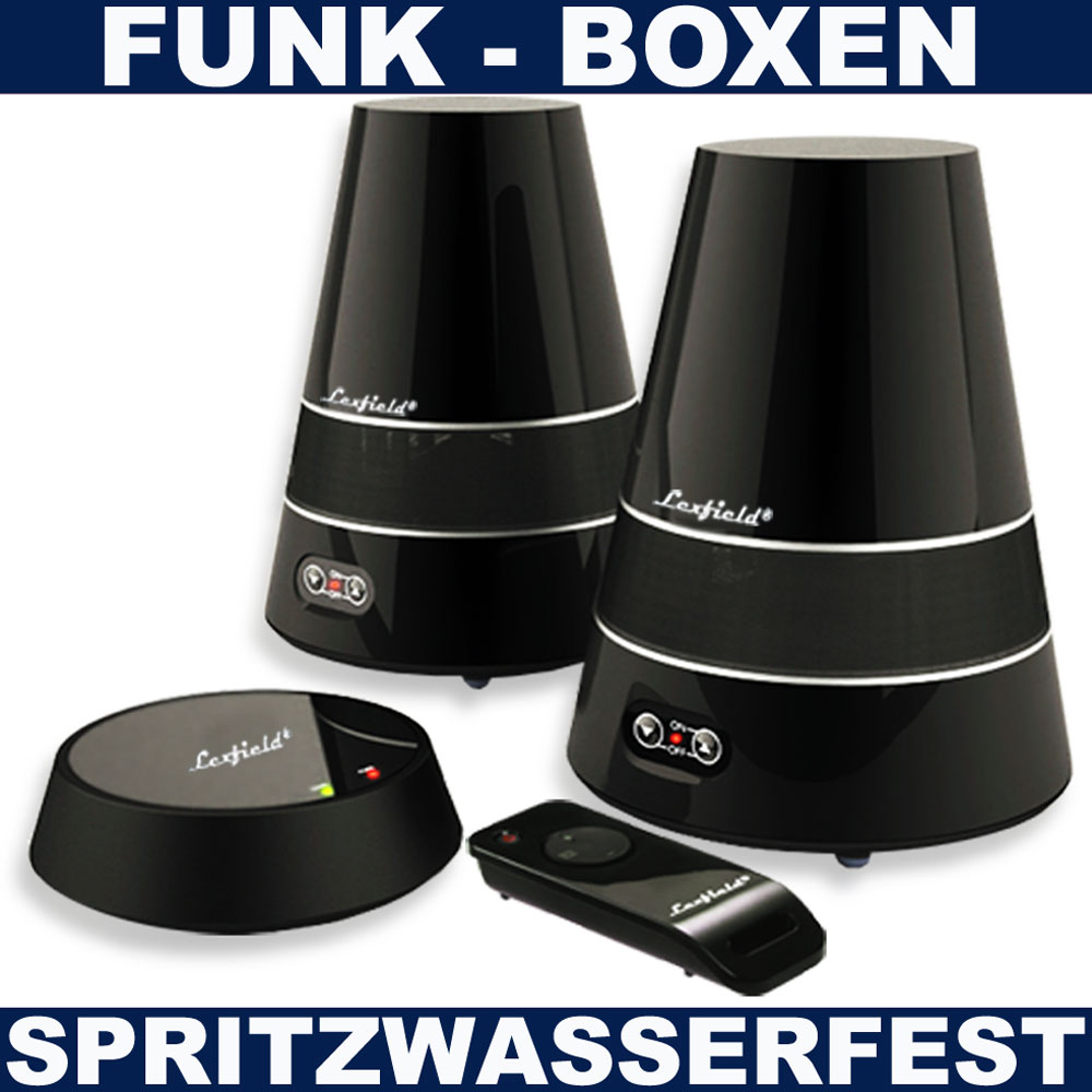 funk lautsprecher wireless boxen garten bad terrasse. Black Bedroom Furniture Sets. Home Design Ideas